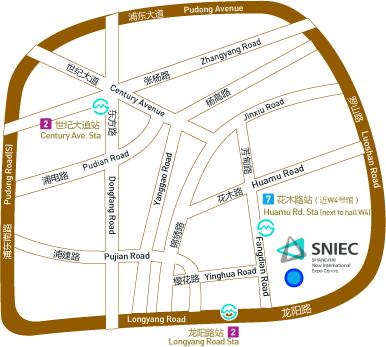 2017上海国际酒店用品博览会(二期)曁上海酒店工程及商业空间系列展交通图