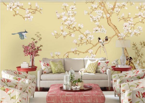 丝绸壁画,丝绸背景墙,高端典雅,专属定制
