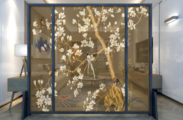 艺术屏风,屏风,屏风定制,尺寸图案个性化
