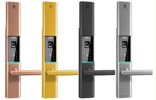 小家丁D8指纹锁APP联网家用防盗门密码锁智能锁电子门锁