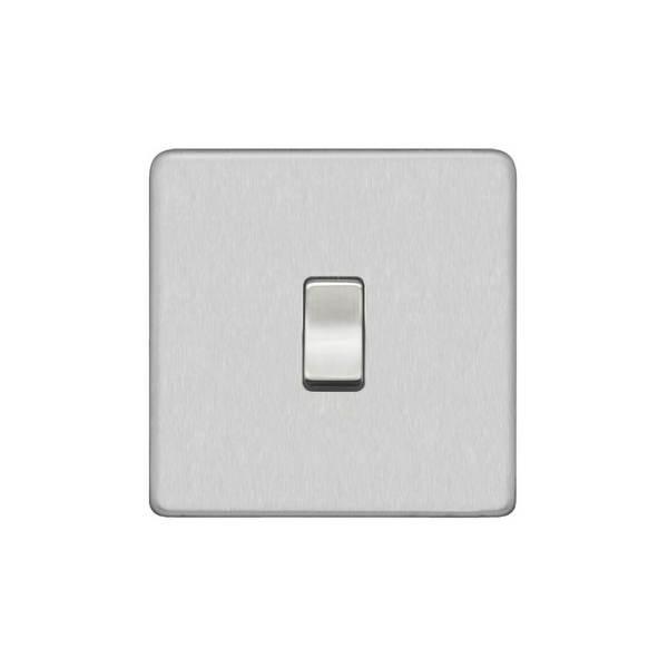 Screwless Flat Profile 1G 2Way 10AX Plate Switch