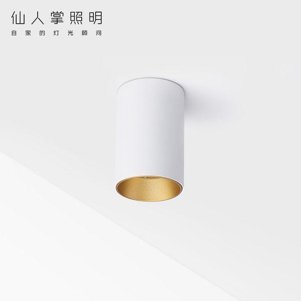 仙人掌先生圆形LED明装筒灯免开孔吸顶单头客厅天花COB明装射灯