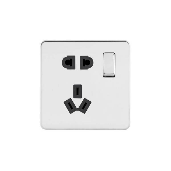 Screwless Flat Profile 10A CCC Switched Socket