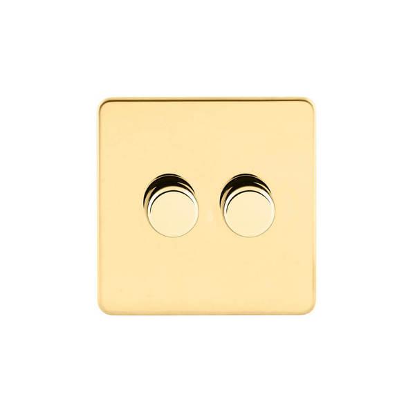 Screwless Flat Profile Universal LED  2G 2 Way 200W Dimmer Switch