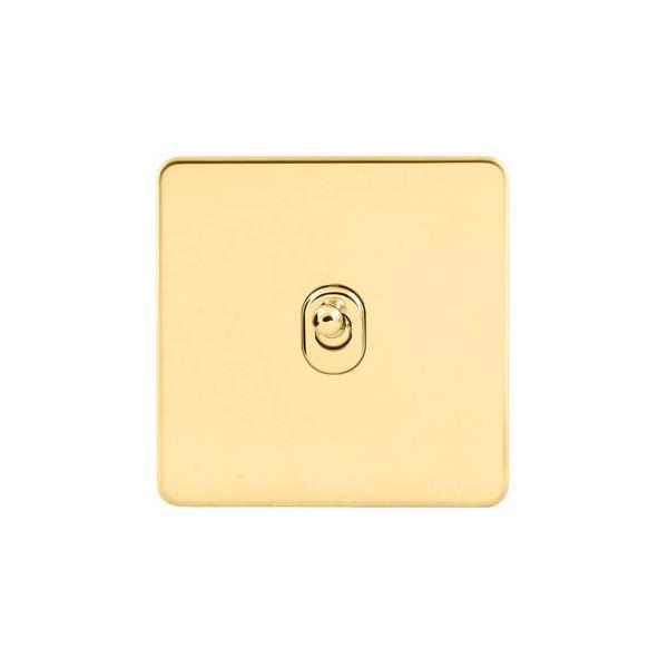 Screwless Flat Profile 1G 2 Way 10AX Toggle Switch