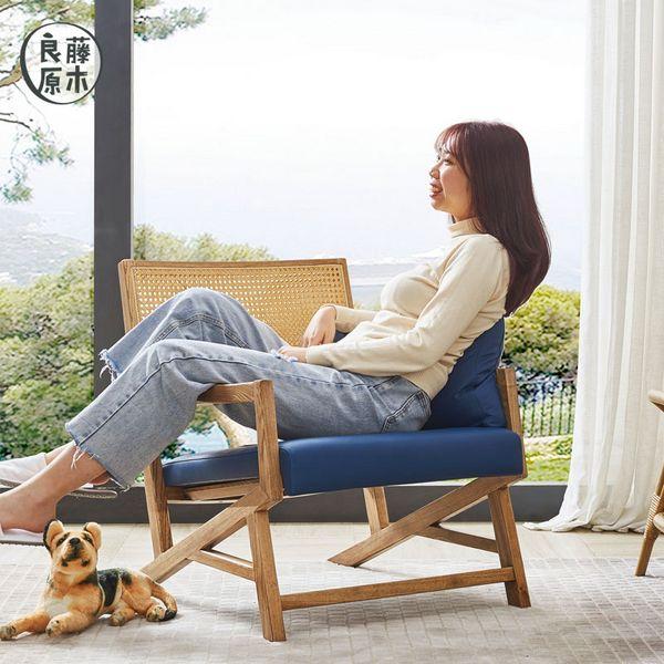 藤编实木休闲沙发休闲椅