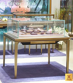 不锈钢珠宝柜 Stainless steel jewelry cabinet
