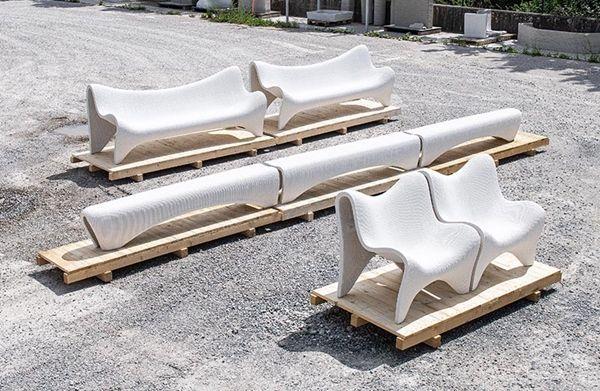 3D打印竟然把混凝土打印成户外家具!