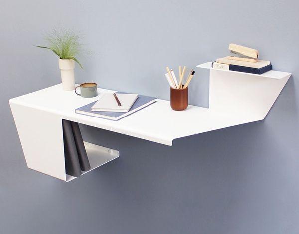 时尚而现代 这款小型壁式办公桌你肯定没见过!