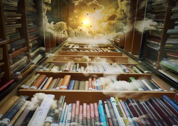 异形曲面墙体制造的神秘空间  海口这座图书馆穿越时空