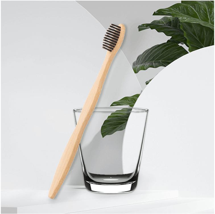 工厂跨境民宿成人可降解竹牙刷可定制LOGO多种刷毛可选