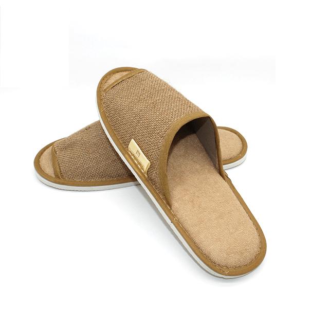 一次性酒店拖鞋时尚的家用民宿拖鞋可定制标志亚麻布温泉酒店拖鞋