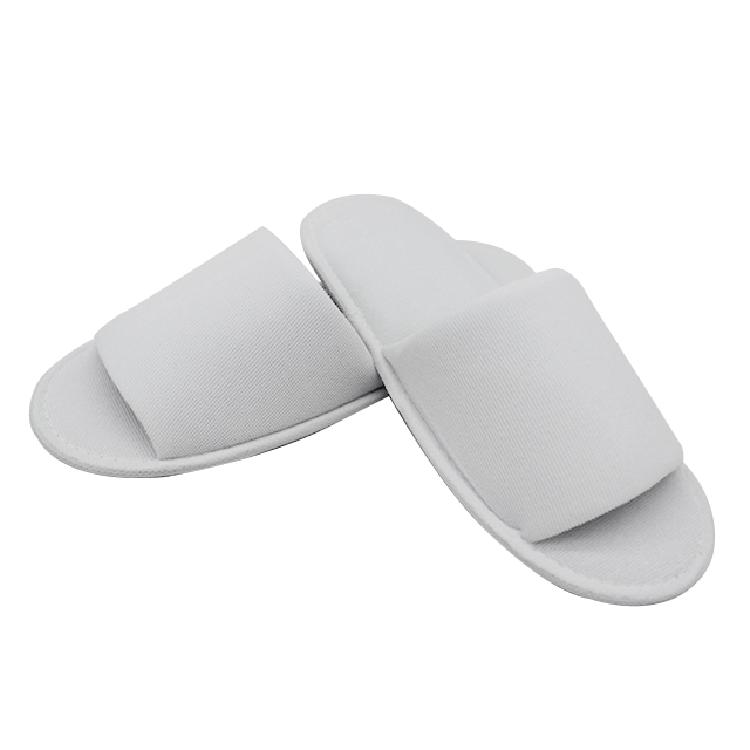 工厂可定制LOGO酒店宾馆家用待客真美布半包一次性拖鞋