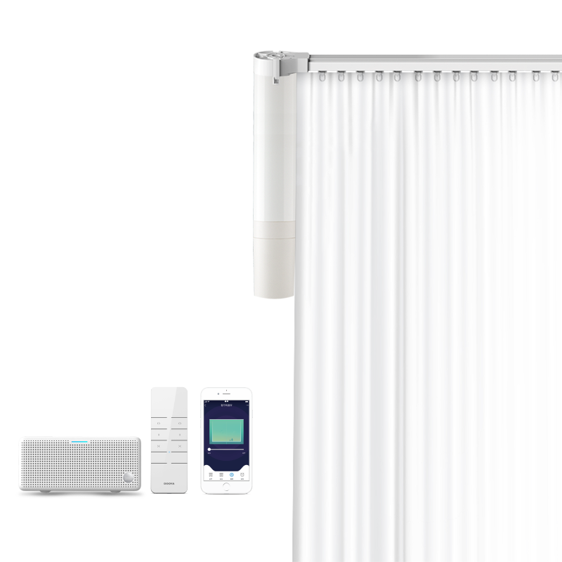 i3plus杜亚DOOYA智能电动窗帘遥控自动轨道锂电池免布线声控天猫精灵i3