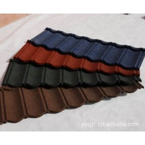彩石金属瓦Colorful stone coated steel roofing tile
