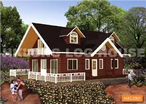 港龙木双层木屋木结构别墅HA12001